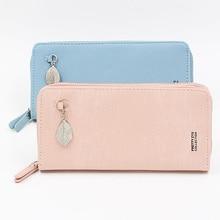 Brand Wallet Women Purse Leaf Coin Pocket Women's Wallet Zipper Clutch Bag Long Purses Design Female Wallet Card holder Wallets недорого