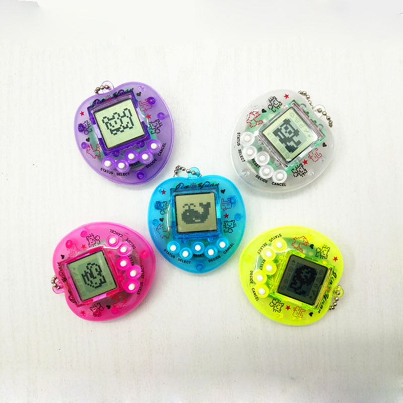 1Pcs Funny Tamagochi Pet Virtual Transparent Digital Game Machine Nostalgic Pet in 01 Cyber Electronic Pet Child Toy For Gifts все цены