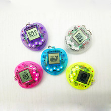 1Pcs Funny Tamagochi Pet Virtual Transparent Digital Game Machine Nostalgic Pet in 01 Cyber Electronic Pet Child Toy For Gifts(China)
