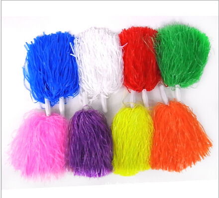 1pcs Free Shipping Yellow Supplies Cheerleaders Took Ball Ball Cheerleaders Flower Plastic Hand Flowers Cheerleading Pom Poms