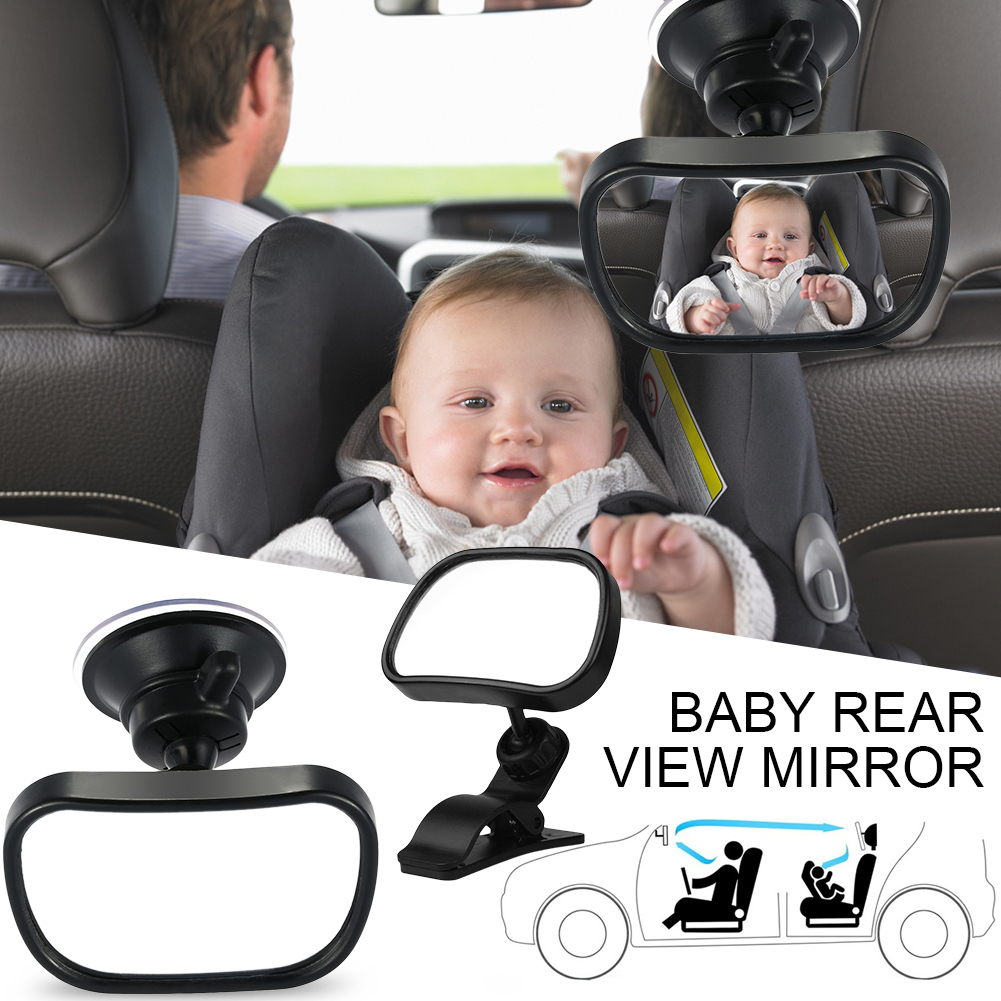 Twins Baby Handy Rear-View Mirror for a Baby car seat and Childrens car seat swivels and tilts