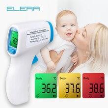 ELERA Детский термометр цифровой температура тела лихорадка измерение лба бесконтактный инфракрасный ЖК-термометр для детей и взрослых