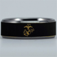 Free Shipping Customs Engraving Ring Hot Sales 8MM US ARMY USMC MILITARY Comfort Fit Design Men