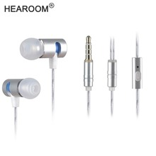 HEADROOM M8 Earphone with Mic HIFI Sports Noise Cancelling Headset Women Man Earplugs Stereo Bass for iPhone 7 xiaomi MP3 Player