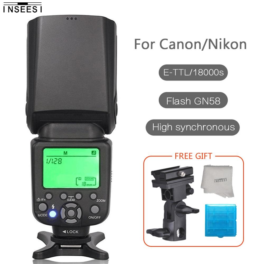 Flash Flash sans fil professionnel INSEESI IN-586EX II Speedlite IN586EX II TTL pour Canon Nikon Vs YONGNUO YN560 III YN-565EFlash Flash sans fil professionnel INSEESI IN-586EX II Speedlite IN586EX II TTL pour Canon Nikon Vs YONGNUO YN560 III YN-565E