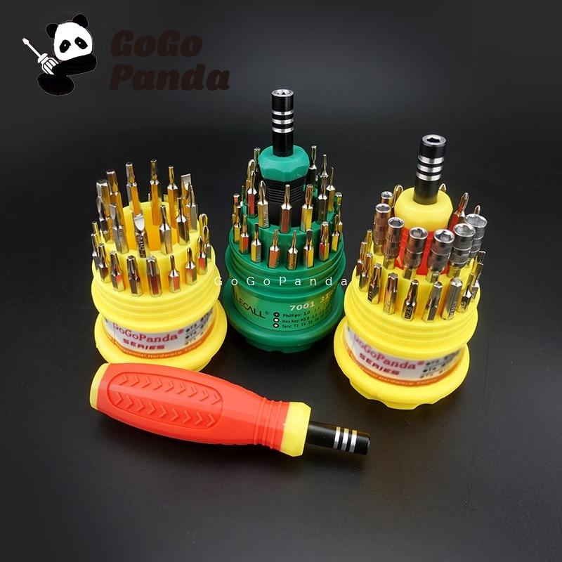 Envío libre 31 en 1 precisión mango destornillador set herramientas del Kit de reparación del teléfono móvil 7001