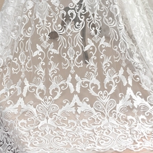European style embroidery sequins lace fabric wedding dress handmade diy material clothing decoration mesh