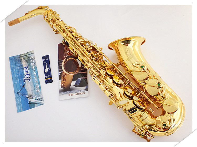 France / authentic instrument [Lyman] E-flat alto saxophone sax musical wind / tube free shipping france henri selmer saxophone alto 802 musical instrument alto sax gold curved saxfone mouthpiece electrophoresis