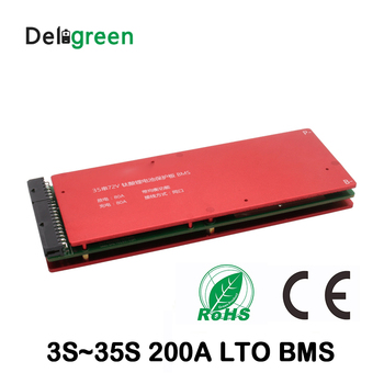 LTO 6S BMS 10S 15S 20S 24S 25S 30S 200A bms with Balance for LTO 2.4V battery pack 18650 lithium titanate battery image