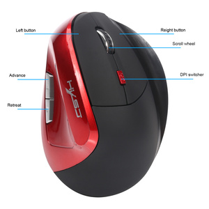 Image 5 - HXSJ X60 2400DPI 6D 2.4GHz Wireless Optical Vertical Gaming Mouse 6 Buttons for Right Hand Built in 1200mAh Rechargeable Battery