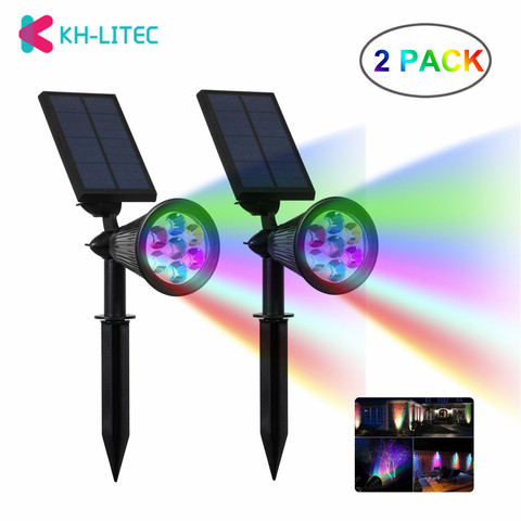 7 khlitec 2 pack 7 movido a energia solar levou cores mudando fixo seguranca solar
