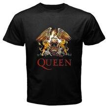 Gildan Camisa Personalizada de T Camisa do Costume T Rainha Legendary Rock  Band Preto Dos Homens fe7e615228b