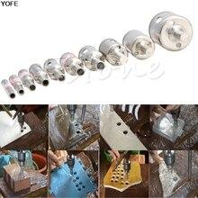 10 шт. Алмазный инструмент, сверла кольцевая пила комплект для стеклокерамической мрамор 6 мм-32 мм