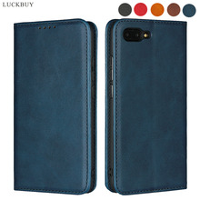 LUCKBUY For Huawei Honor 10 Luxury Calf Pattern Leather Magnetic Wallet Cases Smartphone Back Cover Funda