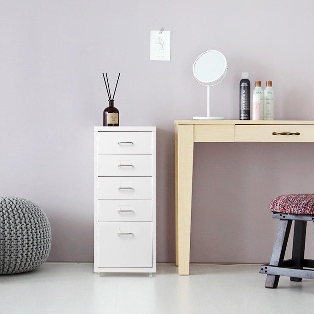 5 tiroirs 4 roulettes salon chambre armoire en métal tiroir classeur pour bureau détachable armoires mobiles