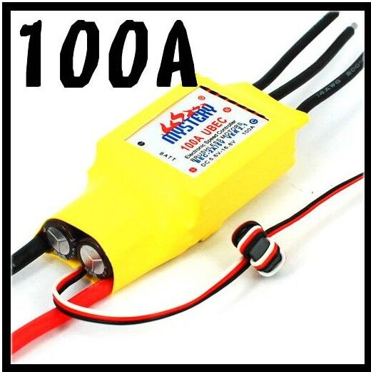 Mystery Cloud 100A brushless W/O BEC ESC Speed Controller For RC Airplane mystery cloud 60a brushless w o bec esc rc speed controller for rc helicopter rc airplane