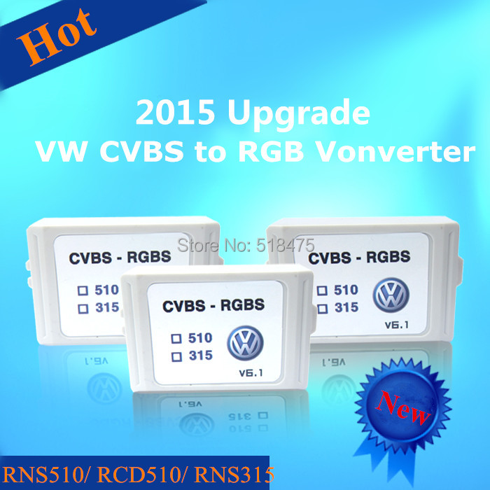 Rear view Camera CVBS AV RGB Converter Adapter Adaptor VW Volkswagen RCD510 RNS510 RNS315 Golf Jetta passat - Car World Auto Parts CO.,Ltd store