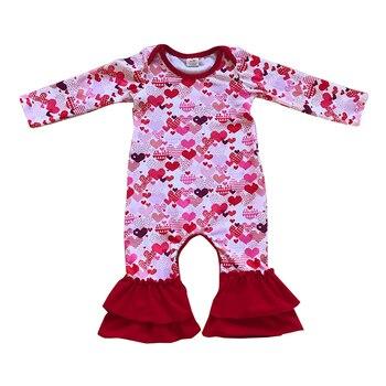 Kaiya Angel Hot wholesale Heart Valentine's Day Christmas Halloween Baby Boy Girl Rompers NewbornFall Winter spring Jumpsuit