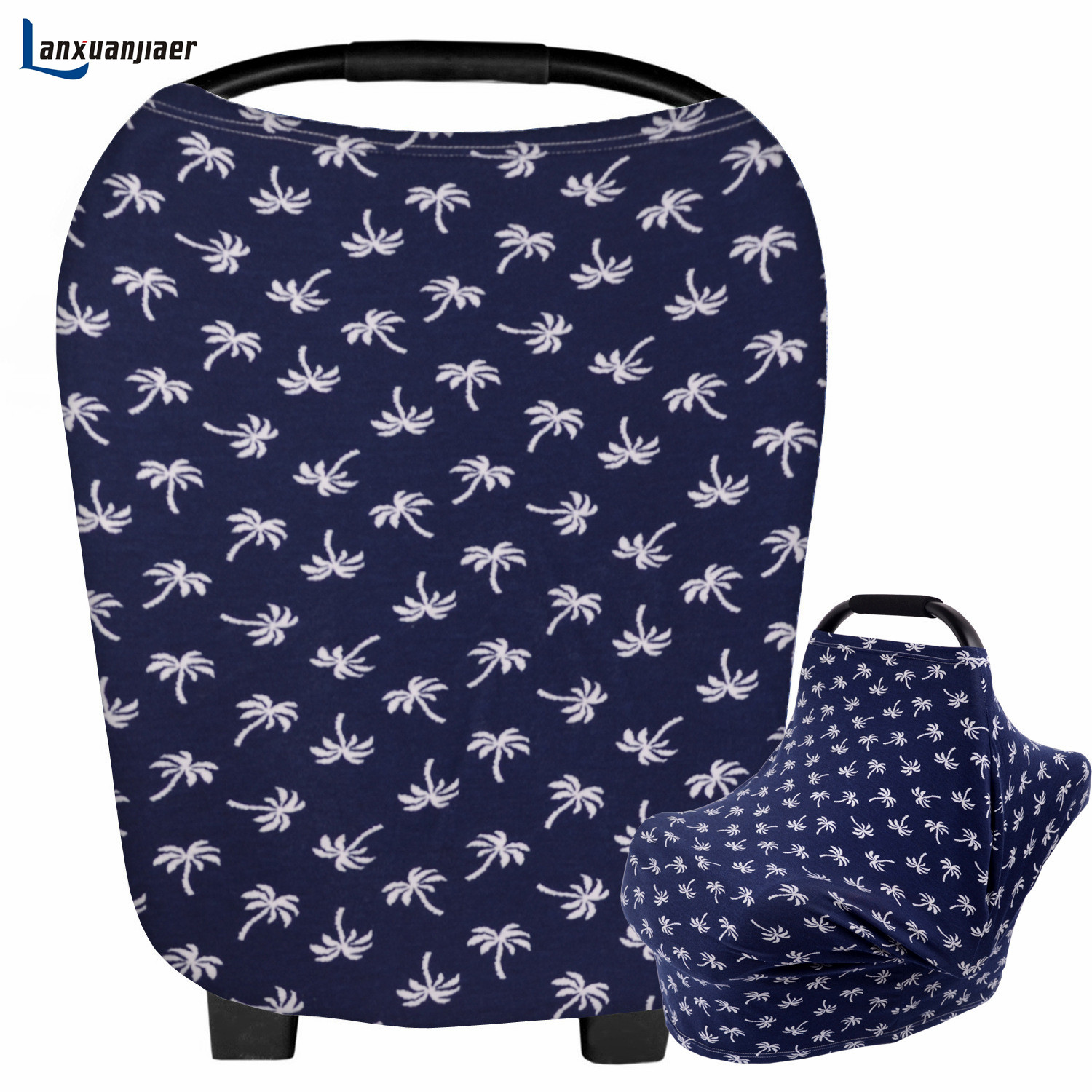 Lanxuanjiaer Baby Car Seat Cover Multi Use Nursing Cover Grocery Cart Cover cotton Stretchy Canopy breedfeeding Covers