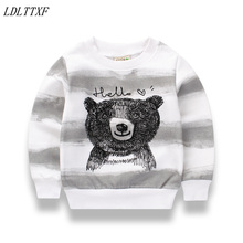 2017 Autumn Winter Girls Boys Sweater Outfits Kids Knitted Casual Outwear Cartoon bear Clothes Boy Long Sleeve Pullover sweater
