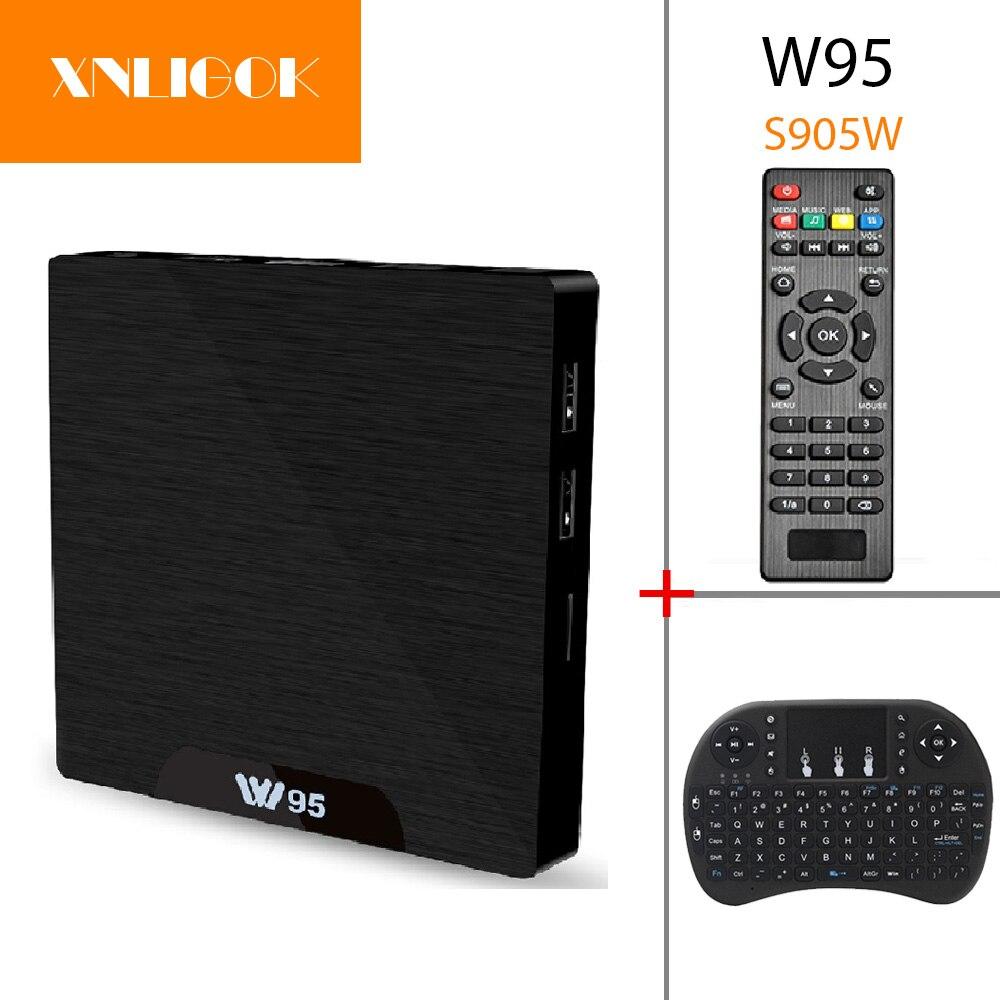 W95 TV Box Android 7.1 Amlogic S905W Quad Core Cortex-A53 1G/8G 2G/8G lecteur multimédia 3D 2.4G WiFi H.265 4 K décodeur
