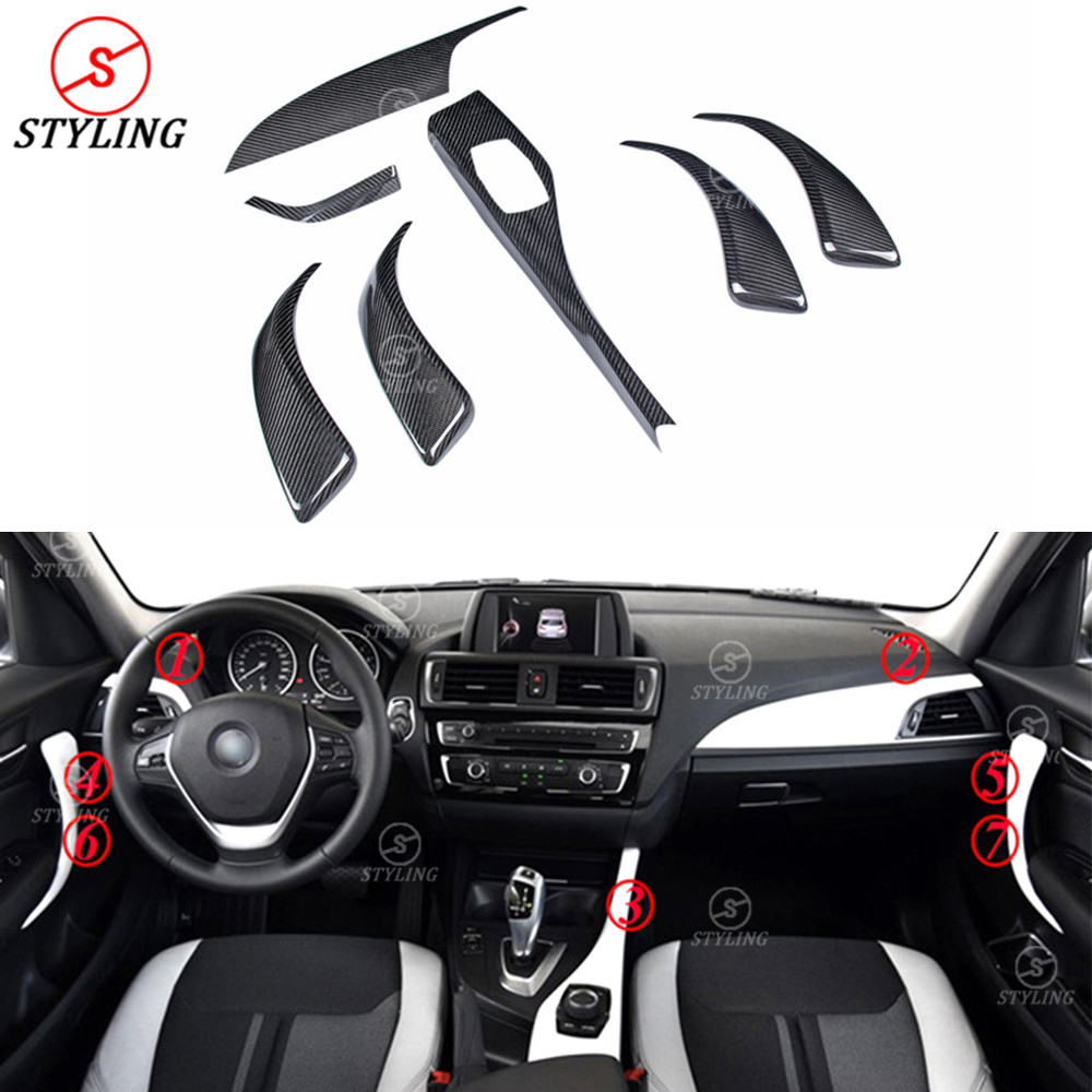 For BMW 1 series F20 F21&2 Series F22 Carbon fiber interior trim cover Add On style Decoration F20 Add On Style Interior Trim fit for toyota camry 2018 carbon fiber style interior gear shift knob cover trim interior mouldings interior accessories
