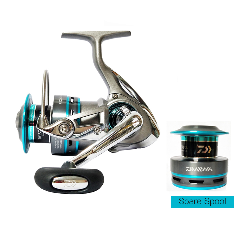 DAIWA Spinning Fishing Reel 7/1 Ball Bearing Left/Right Interchangeable Spinning Reels Saltwather Fishing Reel with Extra Spool 12 1 bb ball bearing left right fishing spinning reels sea fish line reel