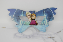 Frozen 12pcs  Elsa&Anna Cartoon Pattern Theme Party Mask kids Birthday Party Decorations Christmas Eye Cover Party Supplies
