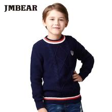JMBEAR boys sweater kids cardigan pullover warm children clothes autumn/winter fashion new 3-14 years