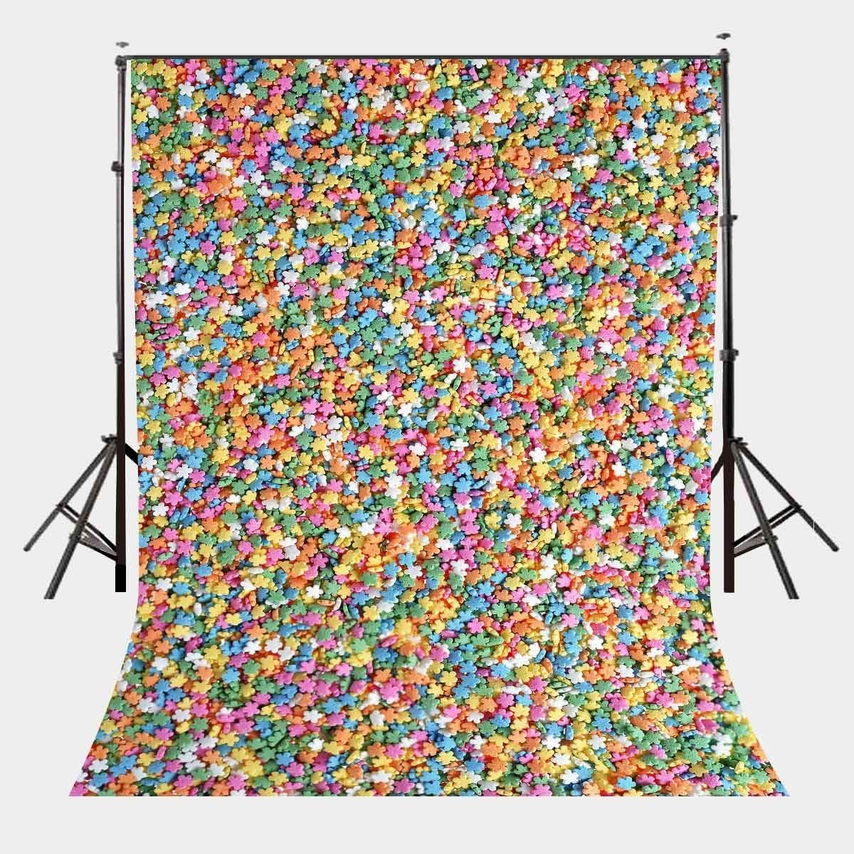 5x7ft Colorful Stars Photography Backdrop Photo Studio Background Props-in Photo Studio Accessories from Consumer Electronics