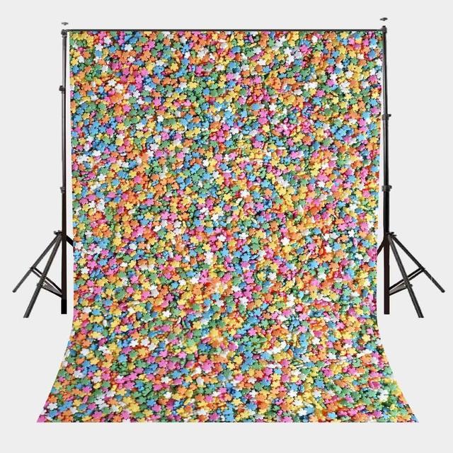 5x7ft カラフルな星写真撮影の背景写真スタジオの背景の小道具