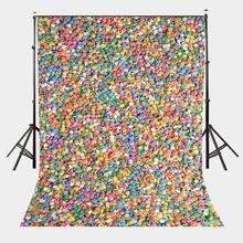 Telón de fondo de estudio de fotografía de estrellas coloridas 5x7ft