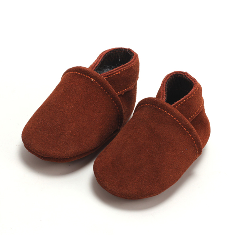 baby moccasins suede genuine leather First Walkers Newborn Baby Boy Girl Soft Moccs Shoes tassels Non-slip Crib Shoe
