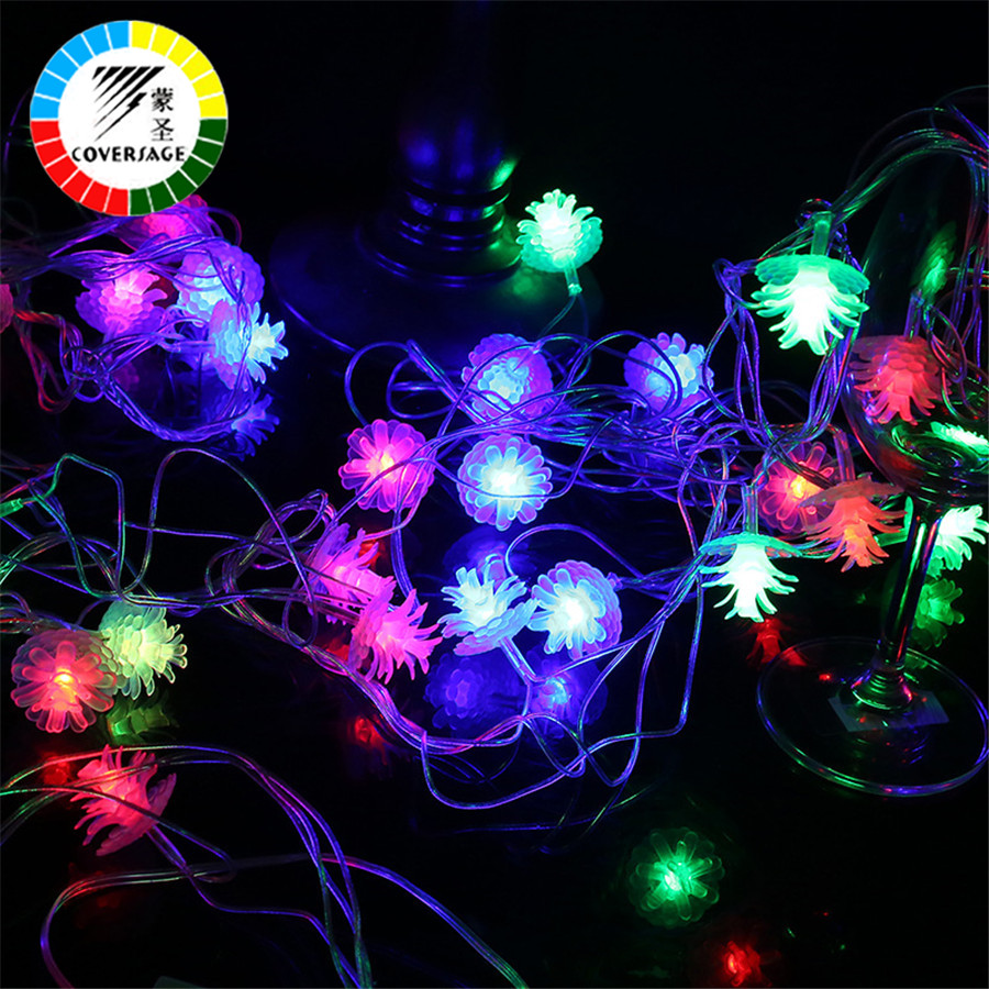 Coversage 10M 100 Led Christmas Tree Garland String Xmas Outdoor Decoration Led Curtain Navidad Curtain Fairy Lights Holiday