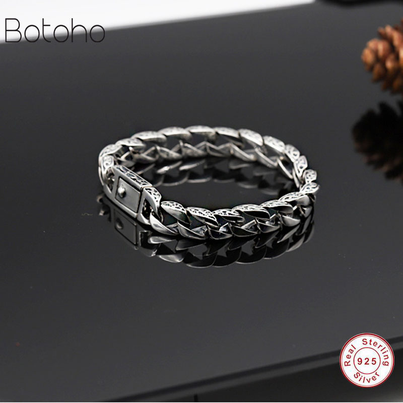 2018 925 Bracelets mens Vintage Men's Bracelet Heavy Thai Silver Fashion Jewelry Free Shipping Men's Silver 925 charm Bracelet 2018 925 bracelets mens vintage men s bracelet heavy thai silver fashion jewelry free shipping men s silver 925 charm bracelet