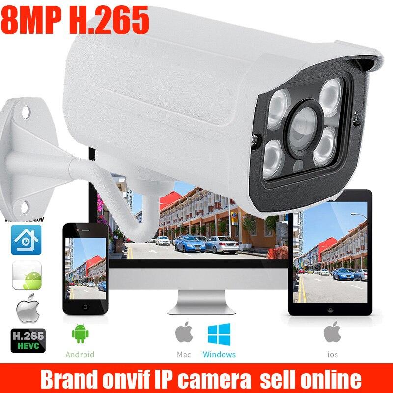 Caméra IP Ultra HD caméra de Surveillance extérieure 8MP 4 K caméra vidéo de sécurité IP IR vue nocturne détection de mouvement enregistrement d'alerte