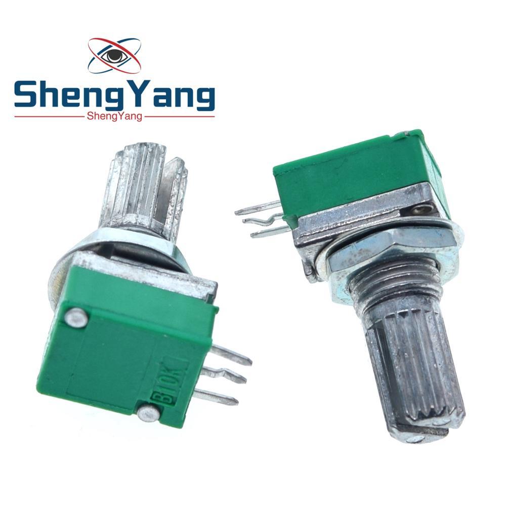10 шт., аудиоусилитель ShengYang B1K B2K B5K B10K B20K B50K B100K B500K, герметичный потенциометр, вал 15 мм, 3 шпильки, RK097N