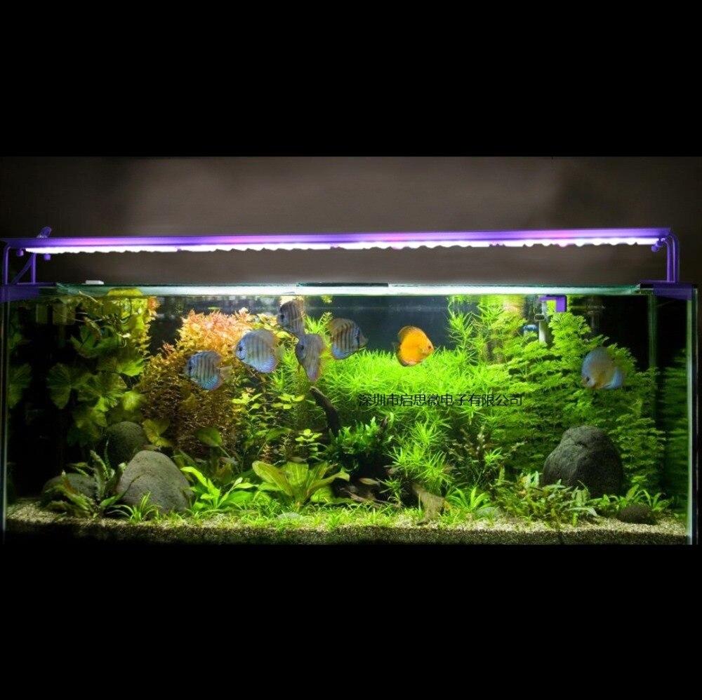 Programable 96 W gran luz Led de acuario lámpara de acuario regulable para arrecife Coral pecera aquario lampe EU US AU enchufe de Reino Unido-in Iluminaciones from Hogar y Mascotas    1