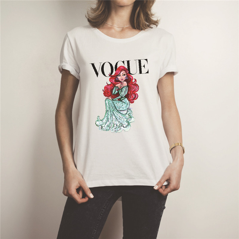 Showtly 2019 New VOGUE Letter Print Women 39 s Tee Tops Summer T Shirt Casual Simple Super Soft O Neck Short Sleeve in T Shirts from Women 39 s Clothing
