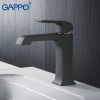 GAPPO Basin Faucets black brass basin mixer bathroom faucet tap waterfall faucet water tap mixer faucet torneira