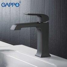 Grifos de lavabo GAPPO grifo mezclador de latón para lavabo de baño, grifo de cascada, mezclador de agua, negro
