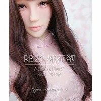 (RB21)Handmade Silicone Soft Realistic Custom Peach Blossom Makeup Female Half/Full Head Hui Crossdress Mask Crossdresser Doll