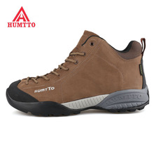 HUMTTO Mens Winter Outdoor Leather Hiking Trekking Boots Sneakers Shoes For Men Sport Climbing Mountain Man Sneaker