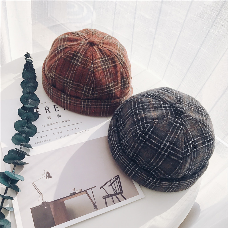 Beanie   Short Casual   Skullies     Beanies   2019 New Hats for Women Skullcap Pumpkin Hat Hiphop Girl Winter Hats Pumpkin Hat Sailor Cap