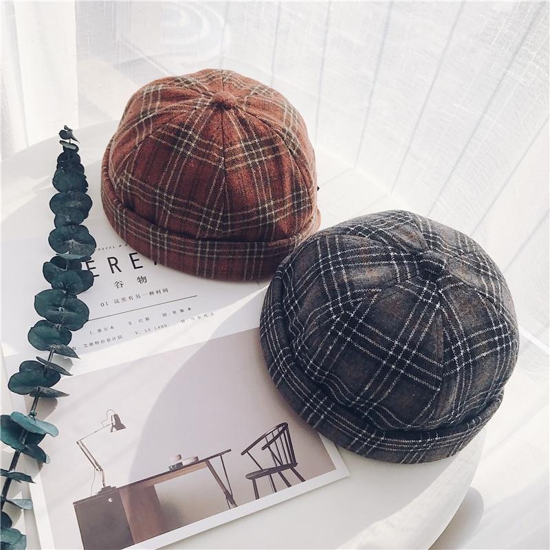 Beanie Short Casual Skullies Beanies 2019 New Hats for Women Skullcap Pumpkin Hat Hiphop Girl Winter Hats Pumpkin Hat Sailor Cap
