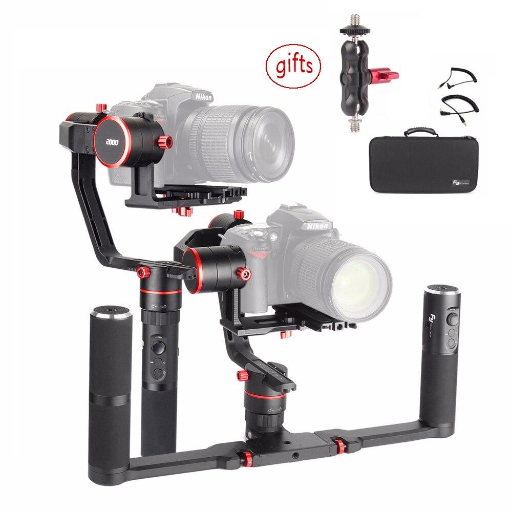 Feiyu Tech Feiyu a2000 3-Axe Cardan + Double Poignée Stabilisateur pour Canon 5D Série, pour SONY A7 Série, Feiyu Cardan pour Panasonic