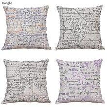 Hongbo Advanced Mathematics Formula Pillowcase Plane Geometric Line Equation Formula Doodle Car Cushion Cover Cojines Almofada