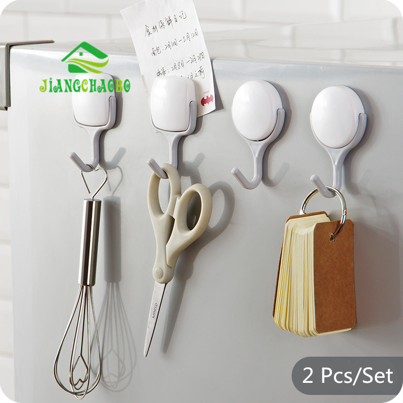 JiangChaoBo Creative Powerful Magnet Hook Activityless Refrigerator Refrigerator Kitchen Refrigerator No Trace Nail-free Hook