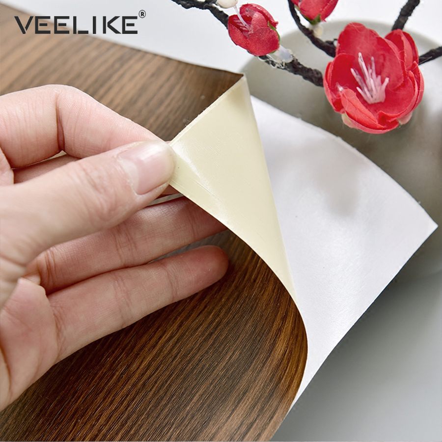 PVC Waterproof Self adhesive Wallpaper for Furniture DIY Home Decor Kitchen Cabinets Shelf Liner Vinyl Wood Grain Contact Paper asus asus sdrw 08u7m u black