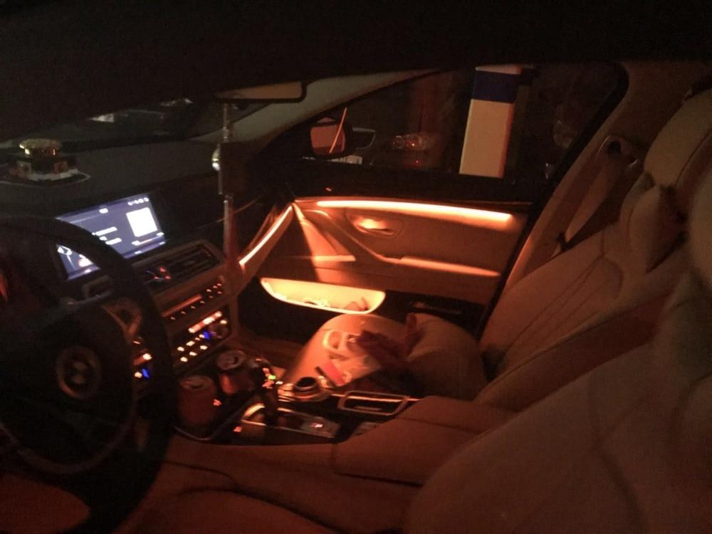 Mason 3 вида цветов авто интерьер автомобиля декоративный led окружающего двери свет в полоску Атмосфера лампы для BMW F10/F11 обновления
